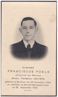 1903 1943 Mortsel Berchem Franciscus Poels Heivers Van Mieghem Kranne Demuyer Vinck Marien Van Linbergen Doodsprentje - Devotion Images