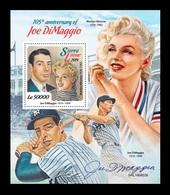Sierra Leone 2019 Mih. 10557 (Bl.1642) Baseball Player Joe DiMaggio. Cinema. Actress Marilyn Monroe MNH ** - Sierra Leone (1961-...)