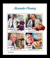 Sierra Leone 2019 Mih. 10558/61 Medicine. Biologist Alexander Fleming. Mushrooms MNH ** - Sierra Leone (1961-...)