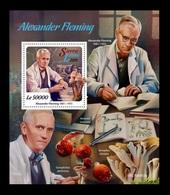 Sierra Leone 2019 Mih. 10562 (Bl.1643) Medicine. Biologist Alexander Fleming. Mushrooms MNH ** - Sierra Leone (1961-...)