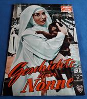 """Audrey Hepburn, Peter Finch > """"Geschichte Einer Nonne (THE NUN'S STORY)"""" > Altes 8-seitiges DNFP-Filmprogramm (fp198) - Zeitschriften"""
