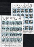 """LIECHTENSTEIN AÑOS 1976/78, CONJUNTO DE 8 PLIEGOS IVERT 599/602 Y 654/57  """" SIGNOS DEL ZODIACO """"  MNH. - Liechtenstein"""