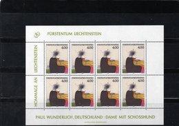 """LIECHTENSTEIN AÑO 1995 SERIE IVERT 1064, PLIEGO  """" HOMENAJE A LICHTENSTEIN III """"   MNH. - Liechtenstein"""