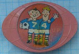 USSR / Badge / Soviet Union / Football. FIFA Cup World Championship 74 Germany. Stereo. 3 D. - Calcio