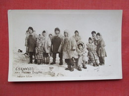 RPPC  Eskimos & Husky Puppies        Ref 3376 - Native Americans