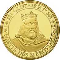 France, Médaille, Les Rois De France, Clotaire I, History, FDC, Copper Gilt - France