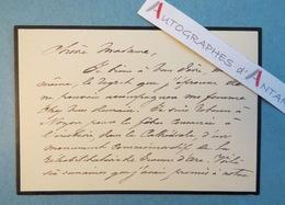 André FOULON DE VAULX Poète - NOYON Oise - Fêtes Monument Jeanne D'Arc - Vincens Bouguereau Carte Lettre Autographe - Autógrafos