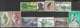 Papua  New Guinea  1961-3  Sc#148, 154-5, 157-63  10 Diff Used  2016 Scott Value $26.35 - Papua New Guinea
