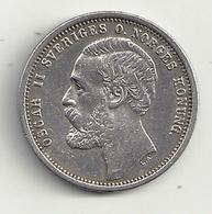 Suède 1 Krona 1875 Superbe - Suède