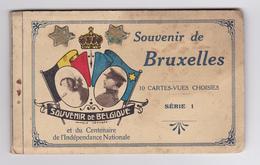 Bruxelles Carnet De 10 Cartes Vues Choisies Série 1 Souvenir Belgique Centenaire Indépendance Nationale - Non Classificati