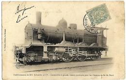 E8 Transport Trains Locomotive à Grande Vitesse Chemin De Fer Du Nord Précurseur 1906 TBE - Railway