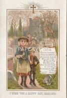 Greeting Card  Faith Two Children Leaving Church   Egc428 - Vieux Papiers
