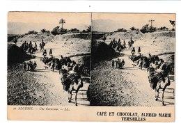 CPA STEREO /PUBLICITE CAFE ET CHOCOLAT ALFRED MARIE/ VERSAILLES /ALGERIE - Publicité