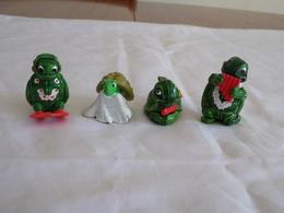 """Figurines ( 4 ) Kinder """" Famille Tortue  """" - Figurillas"""