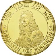 France, Médaille, Les Rois De France, Louis XIII, History, FDC, Copper Gilt - France