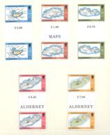 Alderney  Michel #  37 - 41  ** Gutter Paare - Alderney