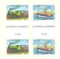 Alderney  Michel #  59 - 60  ** Gutter Paare - Alderney
