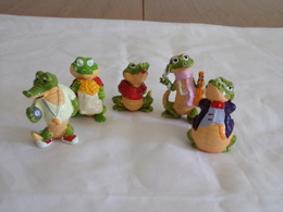 "Figurines ( 5 ) Kinder "" Famille Crocodile  "" - Figurillas"