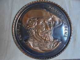 Vintage - Portrait Petrus Paulus RUBENS Sur Cuivre - Cobre