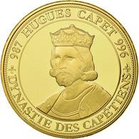 France, Médaille, Les Rois De France, Hugues Capet, History, FDC, Copper Gilt - France