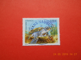 FRANCE 2014   FAUNE MARINE. Tortue Verte    Beau Cachet Rond Sur Timbre Neuf - Used Stamps
