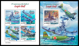 SIERRA LEONE 2019 - Leyte Gulf, Ships. M/S + S/S Official Issue. - Ships