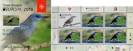 Malta - 2019 - Europa CEPT - National Birds - Mint Stamp Booklet - Malta