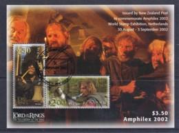 New Zealand 2002 Amphilex Lord Of The Rings Minisheet Used - New Zealand