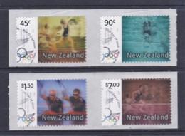 New Zealand 2004 Olympic Games Set Of 4 Self-adheisves Used - New Zealand