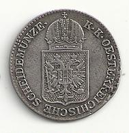 Autiche 6 Kreuzer 1849A Argent Ttb - Austria