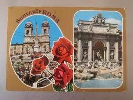 Roma - Zweibildkarte / Nachgebühr, Nachporto, NachTaxiert Linz - Mehransichten, Panoramakarten