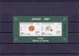 2007 - Europa Cept - Monténégro - N°YT 148 Et 149** Feuillet Issu Du Carnet C148** - Europa-CEPT