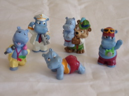 "Figurines ( 5 ) Kinder "" Famille Hippopotame "" - Figurines"
