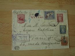 Lituanie  Lietuva Blunkas 5 Ct Sur 15 Plus 3 Timbres 1930 Entier Postal  Stationery Card - Lituanie