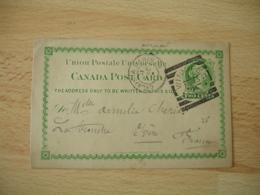 Canada Winnipeg 2 Cents Vert Entier  Postal  Stationery Card - 1851-1902 Règne De Victoria
