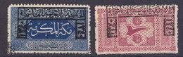 Stamp1916  2 P Postage Due  1p  Saudi Arabia Optd With  ARABIAN GOVERNMENT HASHMIYAH   Hand Stamp  IN RED COLOR - Saudi Arabia