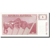 Billet, Slovénie, 5 (Tolarjev), KM:3a, NEUF - Slovénie