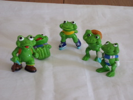 "Figurines ( 5 ) Kinder "" Famille Grenouille "" - Figurines"