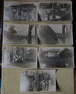 Lot De 7 Photographies Du Corps Franc Pommiès  Voyage Toulouse-Chevigny  Septembre 1944 - Guerre, Militaire