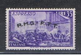 TRIESTE  A:  1948  ESPRESSO  RISORGIMENTO  -  £. 35  VIOLETTO  N. -  SASS. E 5 - 7. Triest