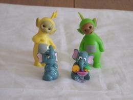 """Figurines ( 4 ) Kinder """" Famille éléphant  """"+ Teletubbies - Figurines"""