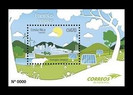 Costa Rica 2019 Mih. 1873 (Bl.98) Green Energy. Windmills. Automobile. Cow. Solar Panels MNH ** - Costa Rica