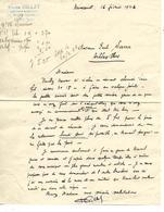 Lettre 1923 / 88 MIRECOURT / Pierre GILLET  / Dessinateur-Brodeur - France