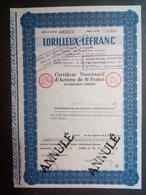 1 Lorilleux Lefranc Action 50 FR (Annulé) - Aandelen