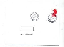 Lettre Cachet Richwiller Sur Tarif C - Storia Postale