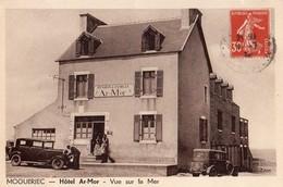 Mogueriec  29   L'Hotel  AR-MOR  Pension De Famille Animé Et Voitures  Et Vue Sur La Mer - France