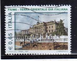 ITALIA REPUBBLICA ITALY REPUBLIC 2007 LA CITTA' DI FIUME TERRA ORIENTALE GIA' ITALIANA USATO USED OBLITERE' - 6. 1946-.. Repubblica