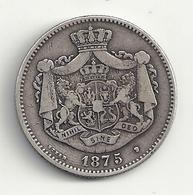 Roumanie 2 Lei 1875 Argent  Ttb - Romania
