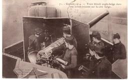 Train Blindé Anglo Belge En Action - 1914 - 50e Régiment Terral D' Infant - Guiraud - Service Militaire - C - Guerre 1914-18