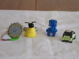 Figurines  Kinder ( 4 ) + 2 Notices De Montage - Figurines